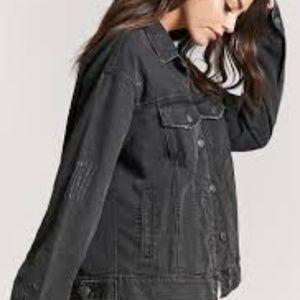 Black denim/jean jacket